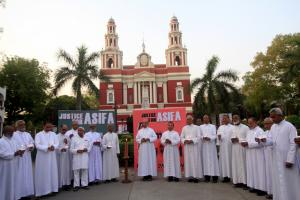Bishops Candle Light protest for Rape victims