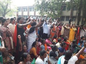 Fishermen's protest in Thiruvananthapuram